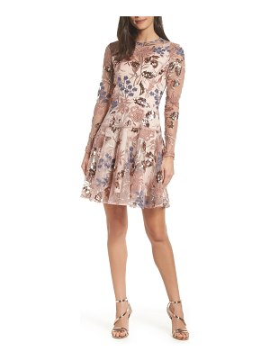 Bronx and Banco aurora embroidered fit & flare dress