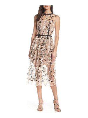 Bronx and Banco cloe embroidered cocktail dress