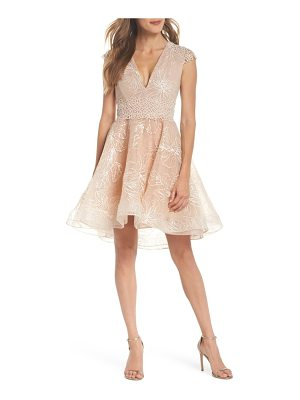 Bronx and Banco fiore sequin fit & flare dress