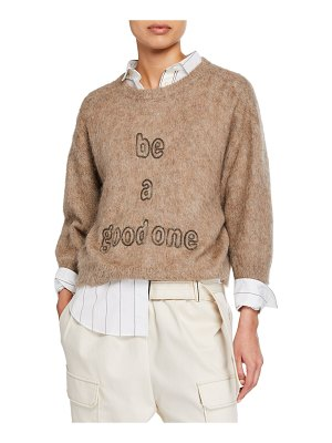 Brunello Cucinelli Be a Good One Monili Beaded Sweater