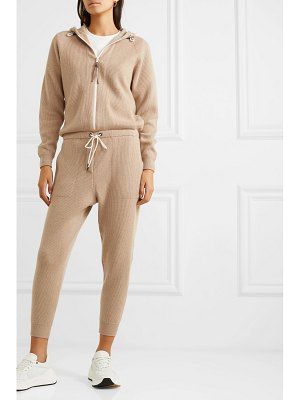 Brunello Cucinelli bead-embellished ribbed cashmere jumpsuit