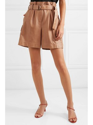 Brunello Cucinelli belted leather shorts