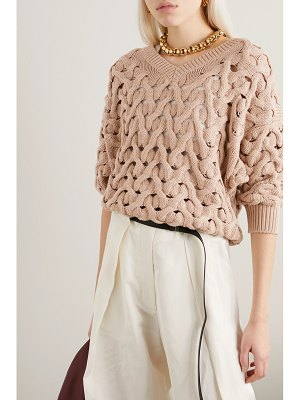 Brunello Cucinelli cable-knit cotton-blend sweater