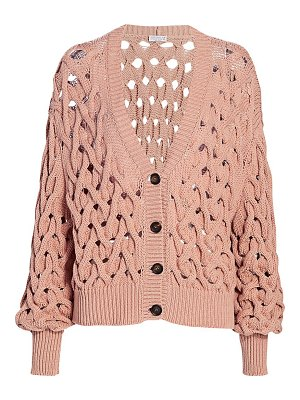 Brunello Cucinelli chunky braided cardigan