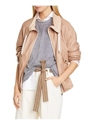 Brunello Cucinelli cinched leather jacket