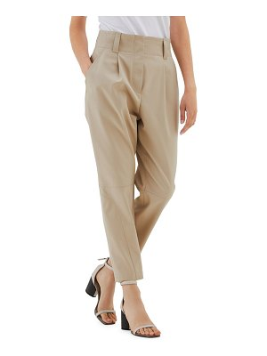 Brunello Cucinelli cotton wool pleated riding pants