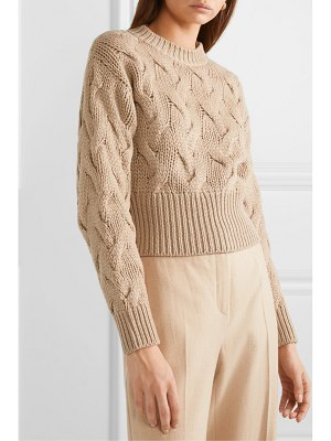 Brunello Cucinelli cropped cable-knit wool-blend sweater