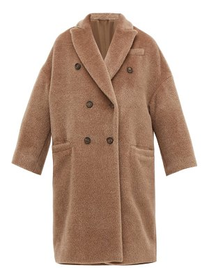 Brunello Cucinelli double breasted wool blend coat
