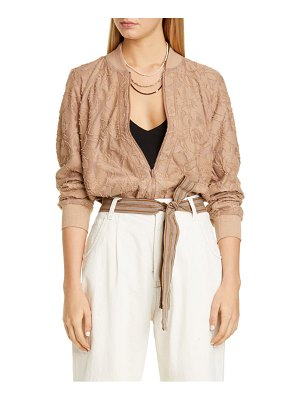 Brunello Cucinelli fil coupe bomber jacket