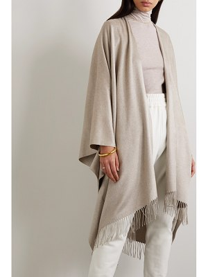 Brunello Cucinelli fringed silk poncho