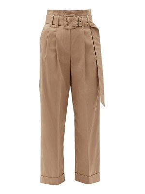 Brunello Cucinelli high-rise cotton-blend trousers
