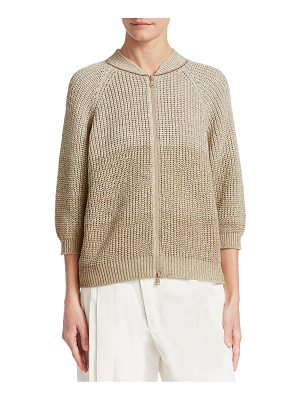 BRUNELLO CUCINELLI Knit Zip-Front Cardigan