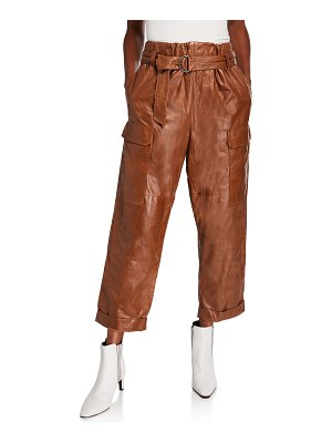 Brunello Cucinelli Leather Cargo Pants