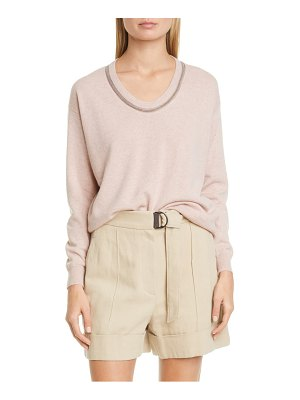 Brunello Cucinelli monili inset cashmere sweater