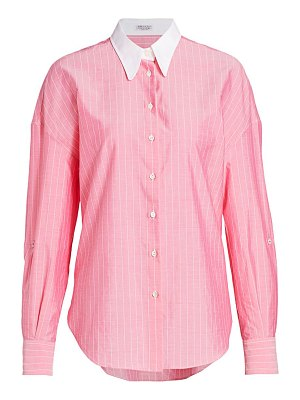 Brunello Cucinelli monili-tab collared shirt