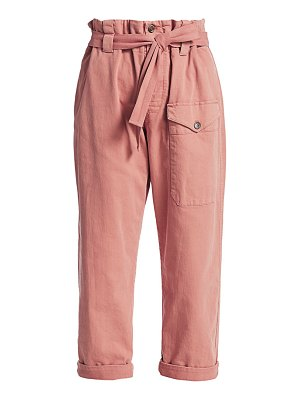 Brunello Cucinelli paperbag stretch-cotton trousers