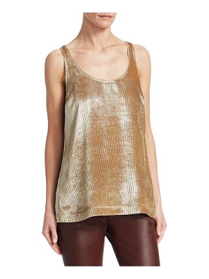 Brunello Cucinelli ribbed scoopneck tank top
