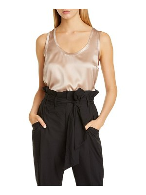 Brunello Cucinelli scoop neck satin tank