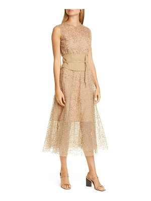 Brunello Cucinelli sequin tulle midi dress