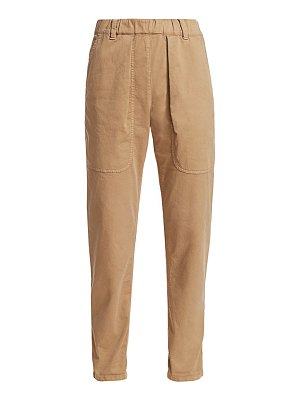 Brunello Cucinelli stretch-cotton garment-dyed trousers