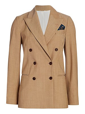 Brunello Cucinelli stretch-wool double breasted jacket