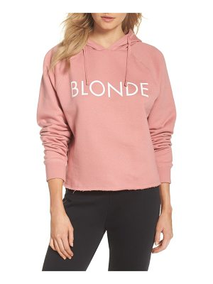 BRUNETTE the Label blondie raw hem hoodie