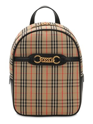 Burberry 1983 checked backpack w/chain links