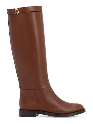 Burberry 30mm redgrave leather tall boots