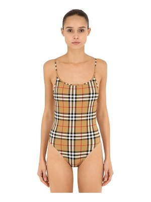 Burberry All over check one piece swimsuit