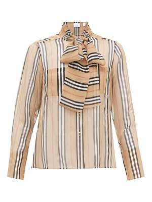 Burberry amelie icon-stripe silk-georgette blouse