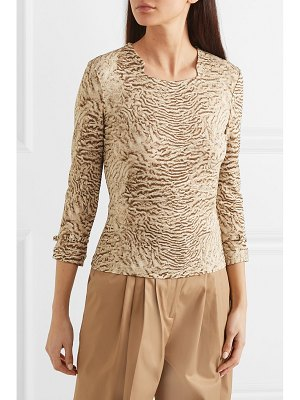 Burberry animal-print stretch-jersey top