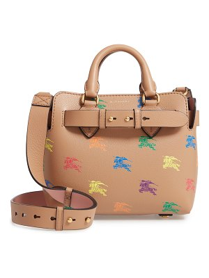 Burberry baby belt bag rainbow logo leather tote