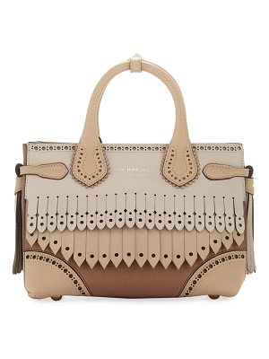 Burberry Banner Small Broguing Fringe Tote Bag