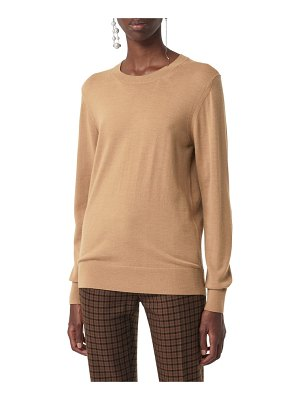 Burberry bempton tartan elbow patch merino wool sweater