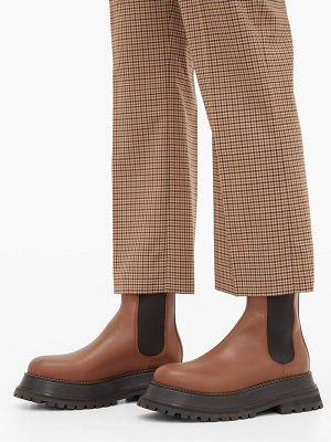 Burberry braemar chunky leather chelsea boots