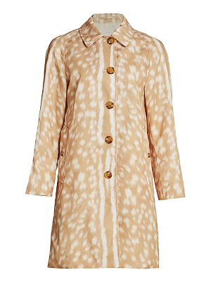 Burberry brunstane deer-print car coat