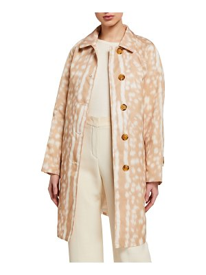Burberry Brunstane Fawn Print Trench Coat