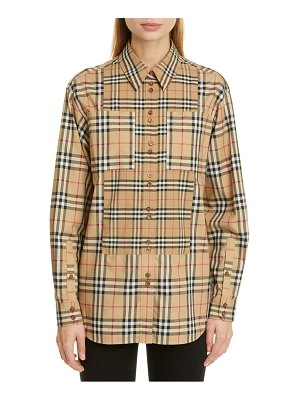 Burberry carlota broken check stretch poplin shirt