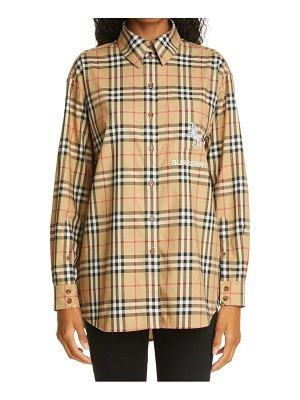 Burberry carlota check shirt