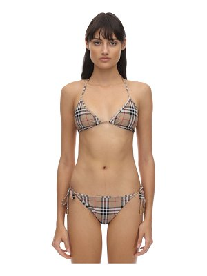 Burberry Check printed stretch lycra bikini