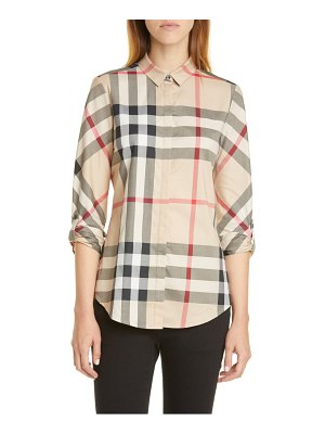 Burberry check shirt