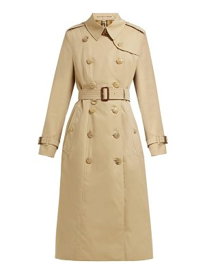 Burberry chelsea double breasted cotton trench coat