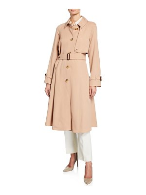 Burberry Cinderford Belted Wool Trench Coat