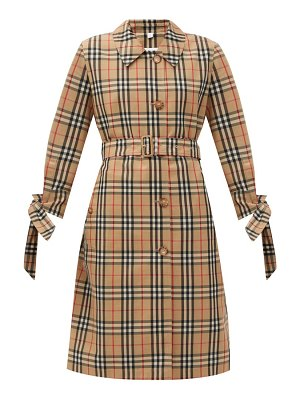 Burberry claygate vintage-check gabardine trench coat