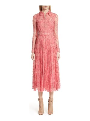 BURBERRY Clementine Floral Lace Midi Dress
