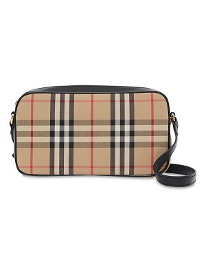Burberry Coated check canvas camera bag