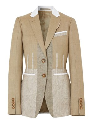 Burberry Color block wool gabardine blazer