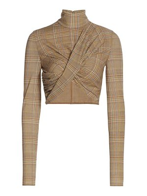 Burberry cropped wrap turtleneck top