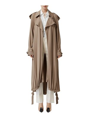 Burberry cyla drawstring hem wrap trench coat