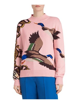 Burberry decke duck intarsia sweater